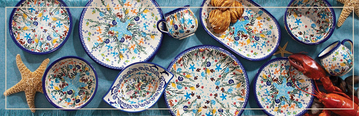 Looking for a pop of color for your table or maybe even a whole new dinner service set? Uno Alla Voltau0027s handmade Polish pottery plates and bowls are sure ... & Polish Pottery Plates u0026 Bowls | Handmade Ceramics | Uno Alla Volta