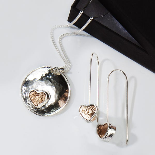 Roman Glass Pendant Necklace by Stones Desire